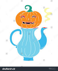 halloween food retro cartoon pumpkin carving stock vector