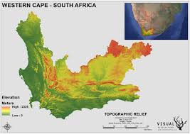 Relief Map Western Cape Topographic Relief Map U2013 Visual Viticulture