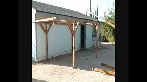 Attached Carport Designs by How I Built A Rolling Carport For Little Money Youtube