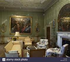 Englefield Berkshire The Green Drawing Room At Basildon Park Berkshire The Damask On