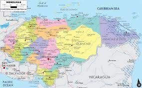 Central America Map With Capitals by Political Map Of Honduras Honduras Pinterest Honduras And