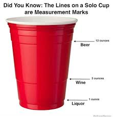 Red Solo Cup Meme - did you know the lines on a solo cup are measurement marks