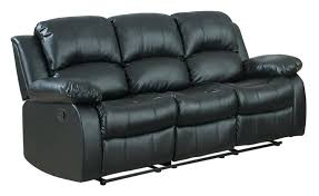 Amazoncom Homelegance Double Reclining Sofa Black Bonded - Sofa in leather