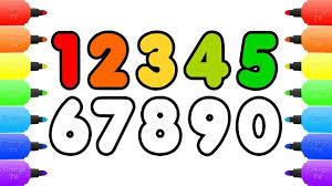 how to draw numbers coloring pages for kids draw color numbers