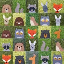 woodland critters quilt pattern u2013 shiny happy world