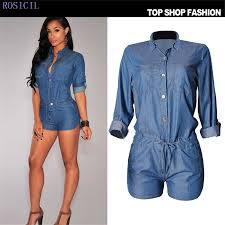 Jeans Jumpsuit For Womens Online Buy Wholesale Short Jean Jumpsuit Women From China Short