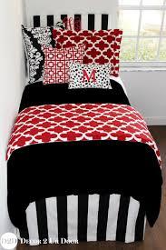 Black Bedding Red Dorm Room Bedding