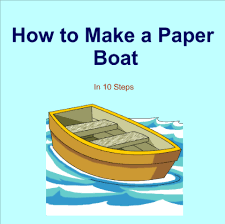 How To Make Boat From Paper - smart exchange usa how to make a paper boat