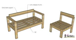 Free Diy Patio Table Plans by Diy Outdoor Seating Her Tool Belt