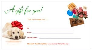 gift certificate template save word templates