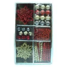 martha stewart living pepperbery assorted ornament 60 count