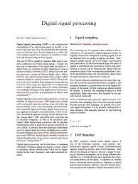digital signal processing pdf digital signal processing signal