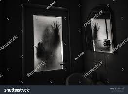 horror woman window wood hand hold stock photo 571944292