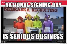 Nebraska Football Memes - cfb national signing day nebraska cornhuskers meme sports unbiased