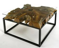 Contemporary Coffee Table Contemporary Rustic Coffee Table Natural Solid Wood Modern