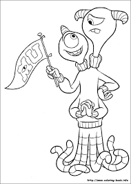 monsters university coloring picture coloring activities