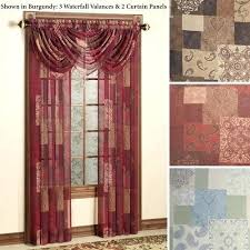 Grommet Kitchen Curtains Burgundy Sheer Curtains U2013 Teawing Co