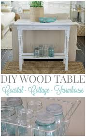 Coastal Cottage Furniture Diy White Washed Wood Table Fox Hollow Cottage