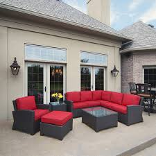 Outdoor Furniture Sectional Sofa Lovable Wicker Sectional Patio Furniture Corvus Oreanne Outdoor 8