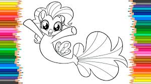my little pony mermaid coloring page coloring markers videos for