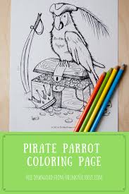 free printable pirate parrot coloring page the inky octopus