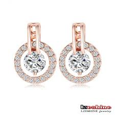 jewelry necklace earring sets images Lzeshine new big sale wedding jewelry sets for women rose gold jpg