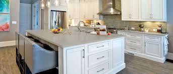 white kitchen cabinets with gray quartz counters quartz countertops revelare kitchens