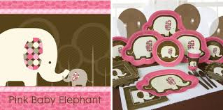 Pink And Brown Baby Shower Decorations Pink Elephant Baby Shower Big Dot Of Happiness