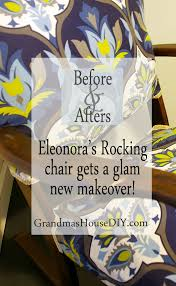 Round Back Rocking Chair Cushions An Old Rocking Chair Gets A Complete Refinish With New Stain And