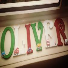 painted mdf letters 6inches