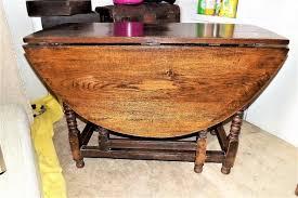 Drop Leaf Oak Table Bobbin Leg Dropleaf Oak Table For Sale Antiques