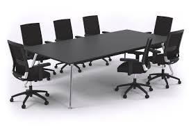 Black Boardroom Table San Fran Executive Boardroom Table Rectangle Chrome Legs 2400l X 12