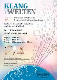 Volksbank Baden Provocal Internationales Chorfestival Baden Konzert U201eklangwelten