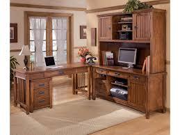 ashley furniture cross island 5 piece l shape office desk unit