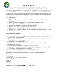 Dietary Aide Job Description Resume by Caribbean Water And Sewerage Association Cawasa Vacancy U2013 Executive U2026