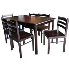 kitchen table furniture 6 seater dining table set and chairs pressboard wenge lazada ph