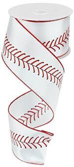 baseball ribbon baseball ribbon black white wired ribbon 2 5 x 10