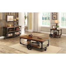 amazon com coaster 701128 home furnishings coffee table rustic