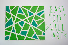 easy canvas wall art project art home diy