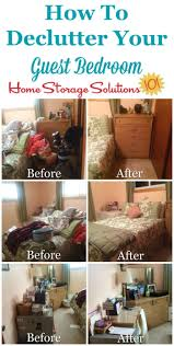 guest bedroom declutter mission how to clear the clutter