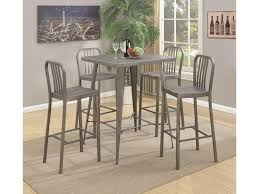 coaster 10593 5 piece metal bar table set dunk u0026 bright
