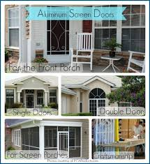 Painting Aluminum Screen Enclosures by Use Your Aluminum Screen Door To Maximize Curb Appeal