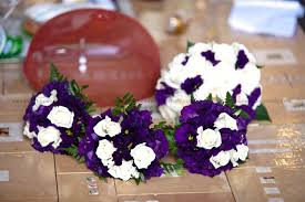 bouquets for wedding white and purple bridal bouquet for wedding in italy