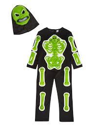 Skeleton Costume Halloween Kids Spine Tingling Skeleton Costume 3 12 Years Tu