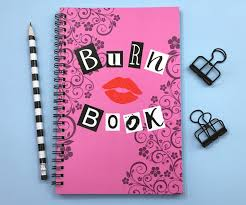 writing journal paper writing journal spiral notebook sketchbook bullet journal writing journal spiral notebook sketchbook bullet journal planner pink and black mean girls blank lined or grid paper burn book