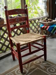 mexican folk art hand painted wood chair ebth hastac 2011