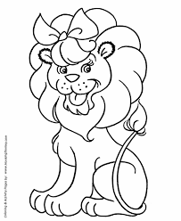 pre coloring pages free printable lion pre coloring large