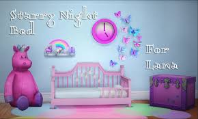 Bed Frames For Boys My Sims 4 Starry Toddler Bed Frame By Teanmoon