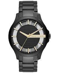 armani watches bracelet images Armani exchange a x men 39 s hampton black tone stainless steel tif