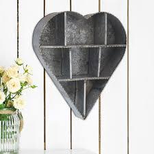 ckk home décor lp stonebriar heart galvanized metal wall shelf